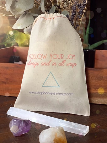 Follow Your Joy Bag with crystals.JPG