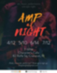 Amp at Night, Cranston, Providence, Warwick Rhode Island, Characters Cafe, Theatre 82 Rolfe Sq, Artists exchange events, things to do,