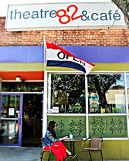Front entrance of nonprofit Characters Cafe and Theatre 82 Rolfe Sq, Cranston, Rhode Island