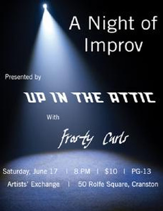 A night of Impov, june 14th, artists exchange, 50 rolfe square, improv in warwick providence cranston rhode island