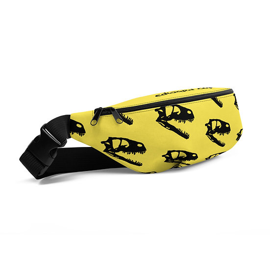 Edward Cope Dinosaur Hunting Apparel Coelophysis Head Fanny Pack (Yellow)