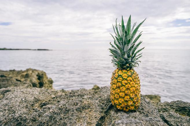 Ananas par la mer