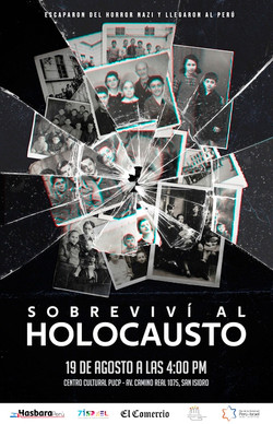 Afiche Sobrevivi al Holocausto
