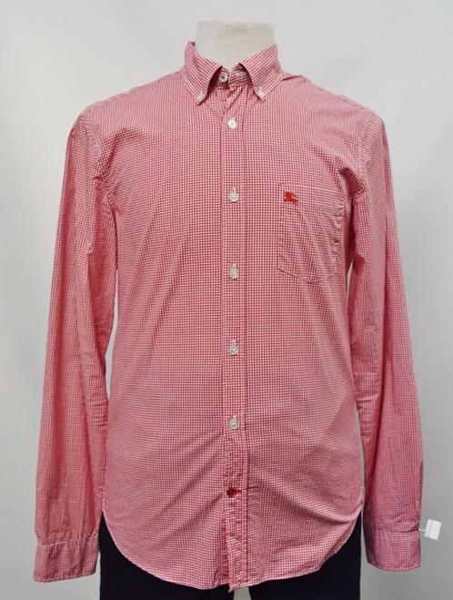 Burberry Red Check Dress Shirt Size Medium