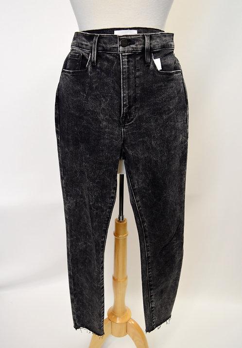 FRAME Black Acid Wash Skinny Jeans Size 27