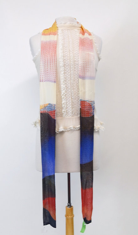 Multi-Colored Silk Scarf