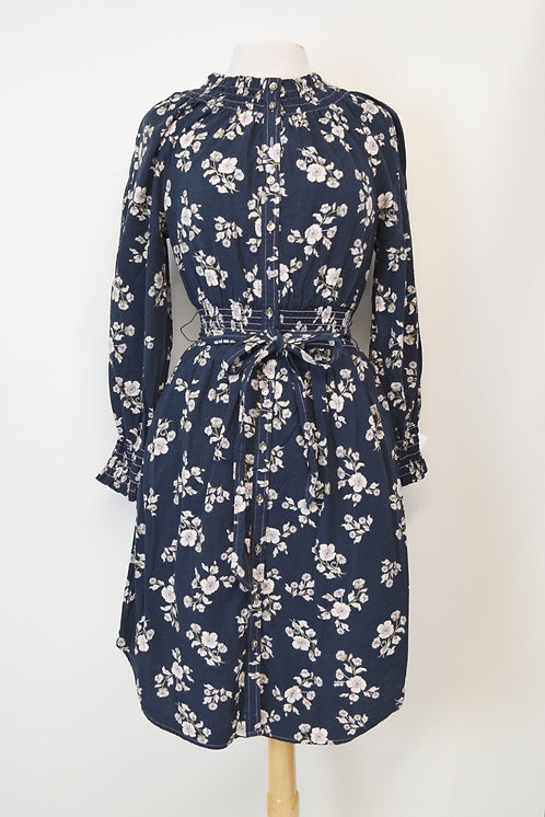 Rebecca Taylor Navy Floral Dress Size Small