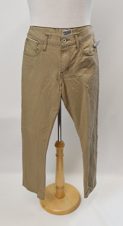 Naked & Famous Tan Jeans Size Small (30)