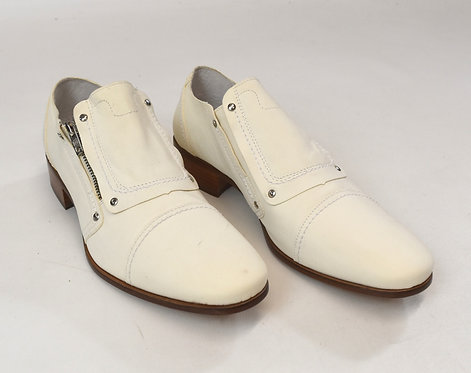 Diesel Ivory Leather Shoes Size 11