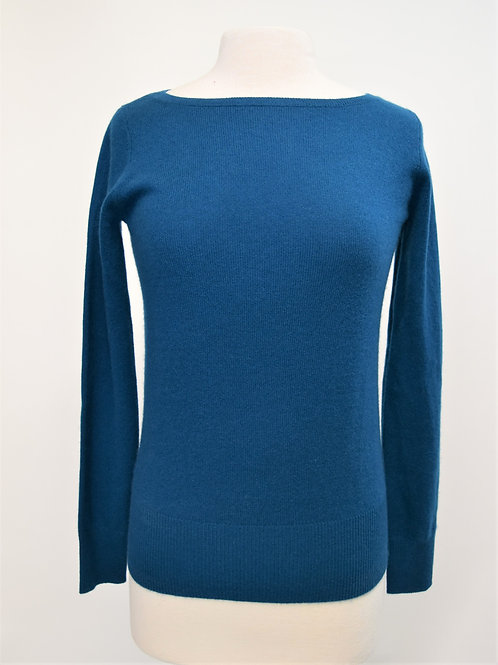 Neiman Marcus Teal Cashmere Sweater Size Small
