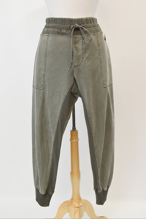 """James Perse Green """"Mixed Media Pant"""" Size Large"""