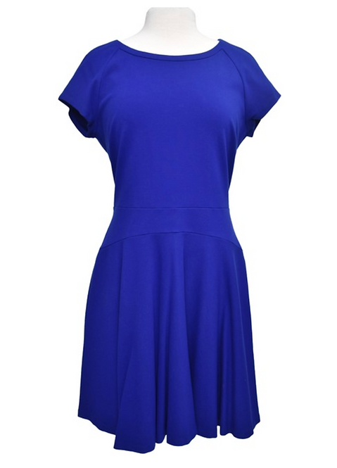 Diane Von Furstenberg Blue Dress Size 14