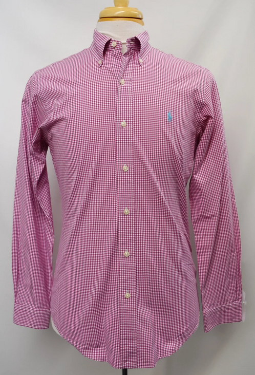 Ralph Lauren Pink Check Dress Shirt Size Small