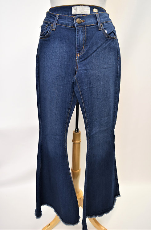 Free People Medium Wash Super Flare Jeans Size 29