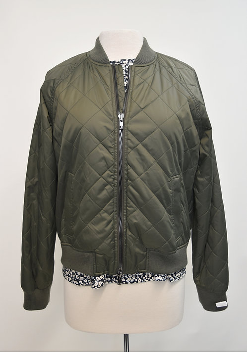 Vince Green Quilted Jacket Size Medium