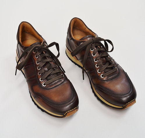 Magnanni Brown Leather Sneakers Size 9