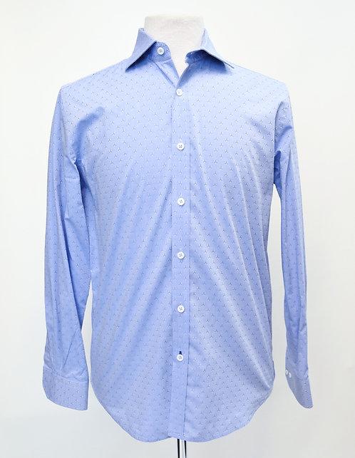 Robert Graham Blue Print Dress Shirt Size Medium