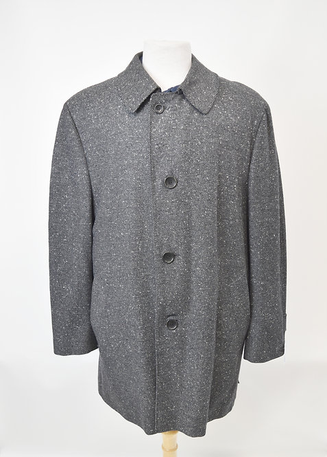 Canali Gray Wool & Cashmere Coat Size 40R