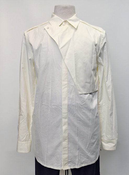 Helmut Lang Ivory Dress Shirt Size Medium