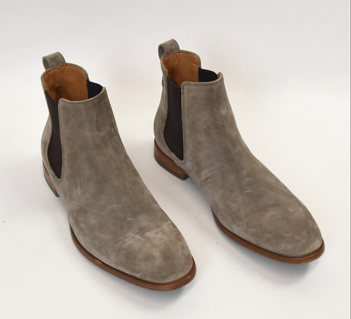 Vince Stone Gray Suede Boots Size 9.5