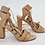Thumbnail: Loeffler Randall Tan Leather Strappy Heels Size 10