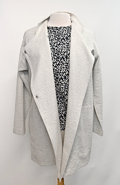 Eileen Fisher White Knit Jacket Size Small