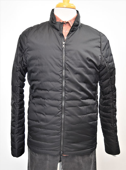 Theory Black Quilted Jacket Size Medium