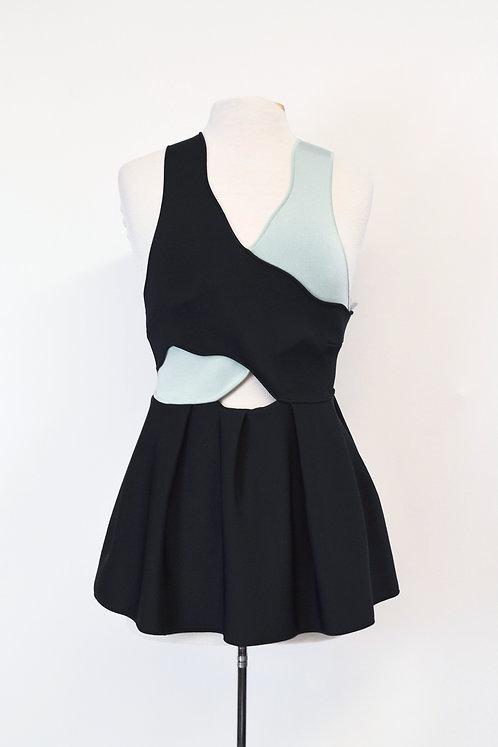Issa Black & Mint Top Size Medium