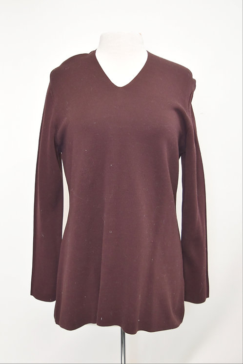 COS Maroon Cotton Sweater Size Large