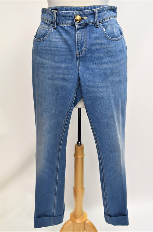 """Gucci Light Wash Cuffed """"Skinny Flare"""" Jeans Size 29"""