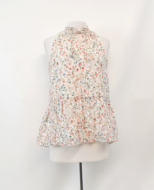Kate Spade White Floral Top Size Small