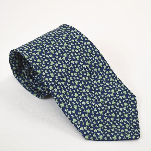 Salvatore Ferragamo Navy Silk Tie