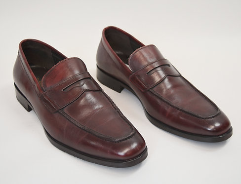 To Boot New York Maroon Leather Loafers Size 9.5