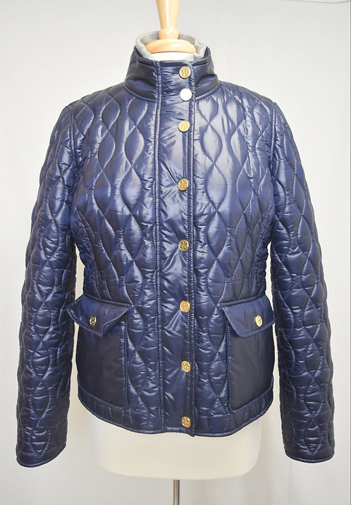 Tory Burch Navy Puffer Jacket Size Large