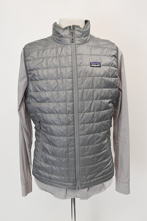 Patagonia Gray Quilted Vest Size Medium