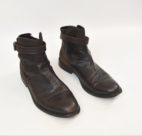 AllSaints Brown Leather Boots Size 9.5