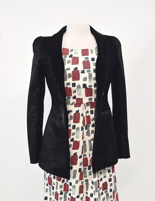 Emporio Armani Black Velvet Blazer Size Small