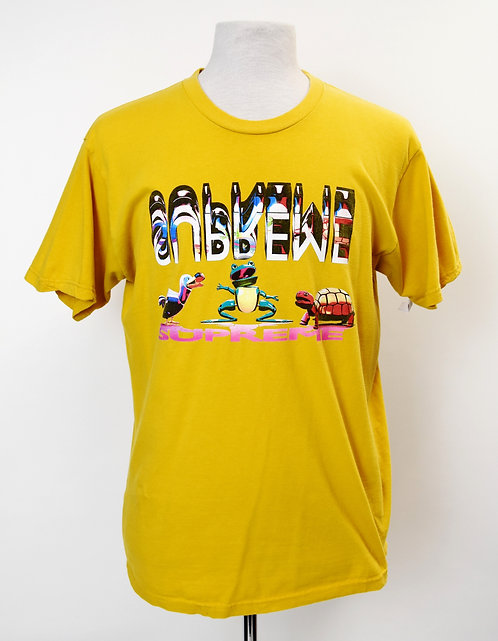 Supreme Yellow Graphic T-Shirt Size Large