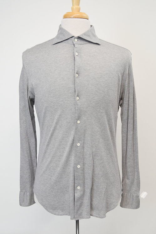 Ciofonelli Gray Knit Button Down Shirt Size Large