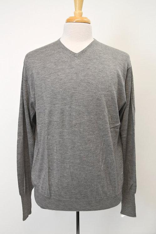 Loro Piana Gray Cashmere & Silk Sweater Size XL