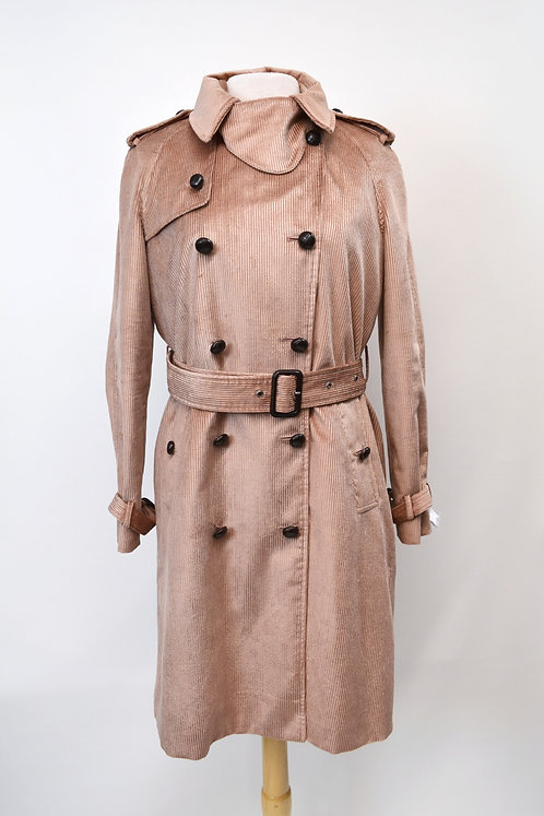 Adam Lippes Light Pink Corduroy Trench Coat Size 8
