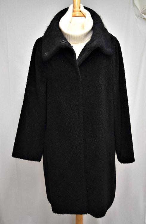 Eileen Fisher Black Wool & Alpaca Coat Size Large