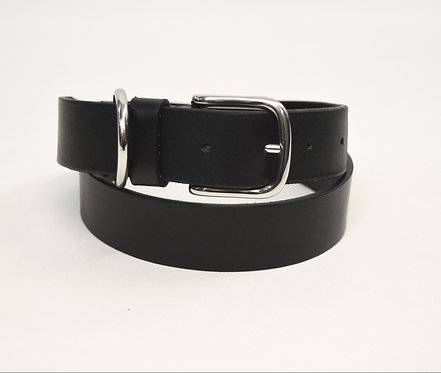 Ami Black Leather Belt Size Small