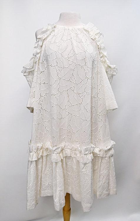 MSGM White Eyelet Lace Dress Size Small (6)