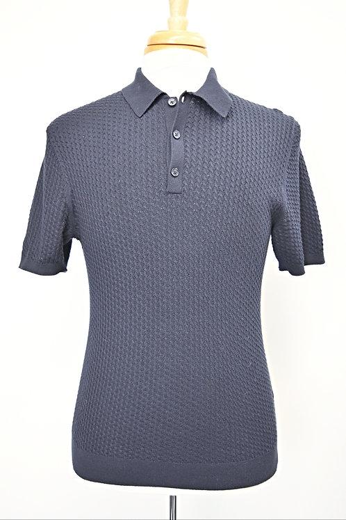 Reiss Navy Knit Polo Size Medium
