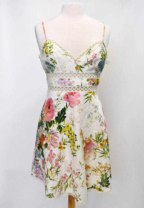 Zimmermann White Floral Dress Size 2