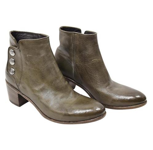 Alberto Fasciani Green Leather Booties Size 8