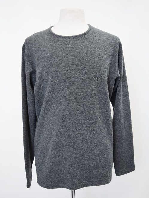 Wings + Horns Gray Wool Sweater Size Large
