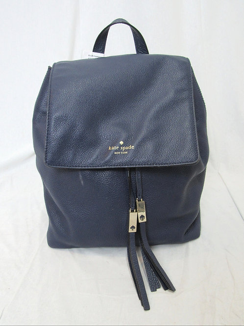 Kate Spade Navy Leather Backpack