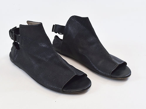 Marsell Black Leather Sandals Size 8